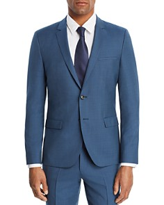 HUGO - Arti Micro-Grid Checked Slim Fit Suit Jacket