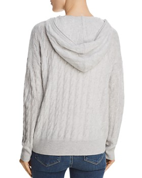C by Bloomingdale's - Cable-Knit Cashmere Hoodie - 100% Exclusive