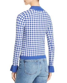 Scotch & Soda - Gingham Half-Zip Sweater