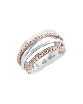 Bloomingdale's - Diamond Crossover Band in 14K White & Rose Gold, 0.45 ct. t.w. - 100% Exclusive