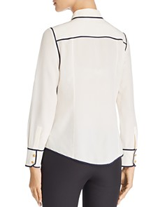 Tory Burch - Contrast-Trim Silk Shirt