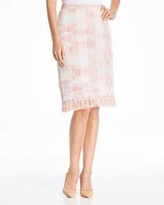 Misook - Marled Fringe Skirt
