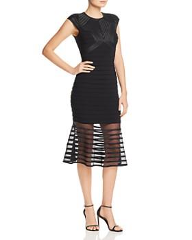 22d3ab74686 AQUA - Power-Mesh Striped Dress - 100% Exclusive ...