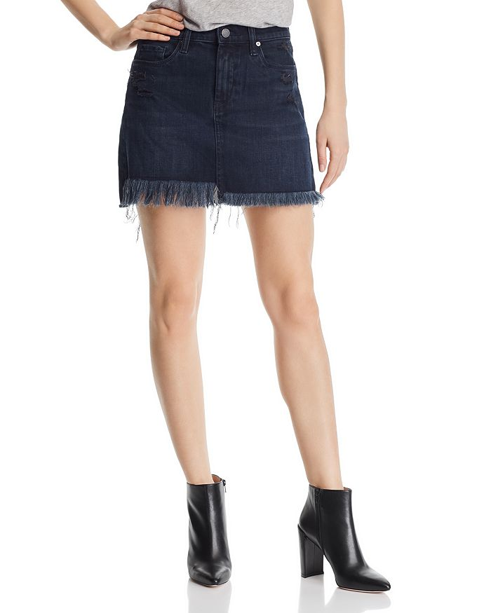 BLANKNYC - Frayed Denim Mini Skirt in Vixen