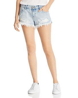 Pistola - Gigi Mid-Rise Denim Mini Shorts in Fling