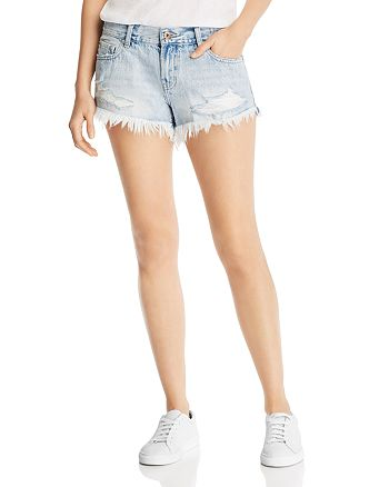 Pistola - Gigi Mid-Rise Denim Mini Shorts in Fling