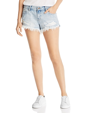 Pistola Gigi Mid-Rise Denim Mini Shorts in Fling