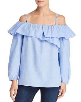 Escada Sport - Nambreeza Cold-Shoulder Ruffle Top