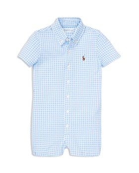 fac782fb3aa Ralph Lauren - Boys  Gingham Oxford Romper - Baby ...