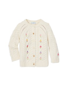 Ralph Lauren - Girls' Floral-Embroidered Cardigan Sweater - Baby