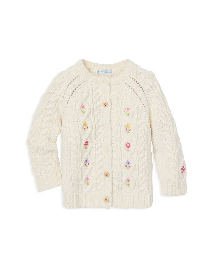 3548ee2e4 Ralph Lauren Girls  Floral-Embroidered Cardigan Sweater - Baby ...