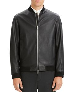 9e051347e Cole Haan Leather Varsity Bomber Jacket | Bloomingdale's