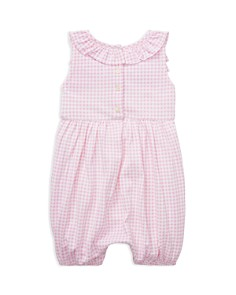Ralph Lauren - Girls' Ruffled Gingham Cotton Romper - Baby