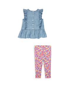 Ralph Lauren - Girls' Chambray Top & Floral Legging - Baby