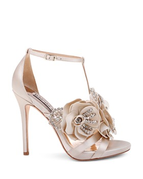 19bcfacae7a ... Badgley Mischka - Women s Lisa Embellished Satin Floral Appliqué High- Heel Sandals