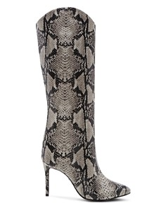 SCHUTZ - Women's Maryana Snake-Embossed High-Heel Boots