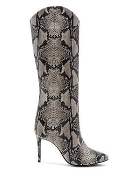 SCHUTZ - Women's Maryana Snake-Embossed High-Heel Boots