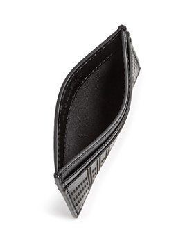 Burberry - Sandon Perforated Check Leather Card Case
