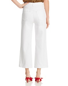 J Brand - Joan High Rise Crop Wide Leg Jeans in White