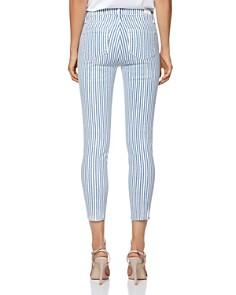 PAIGE - Verdugo Crop Skinny Jeans in Sky Blue Stripe