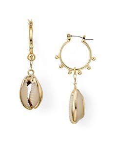 AQUA - Shell Drop Hoop Earrings - 100% Exclusive