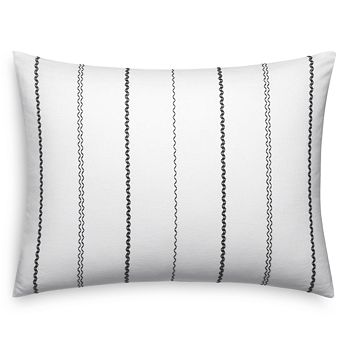 "Vera Wang - Chevron Stitching Decorative Pillow, 15"" x 22"""