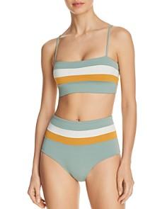 L*Space - Rebel Stripe Bikini Top & Portia Stripe Bikini Bottom