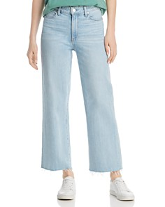 PAIGE - Nellie Crop Wid-Leg Jeans in Myrtle