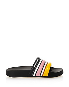 Tory Burch - Women's Striped Slide Sandals