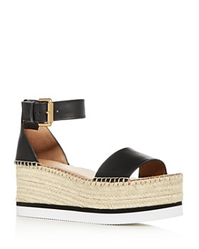 dab7ce12e01 See by Chloé - Women s Glyn Ankle-Strap Platform Wedge Sandals ...