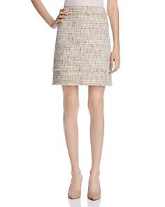 Elie Tahari - Alana Metallic Tweed Mini Skirt