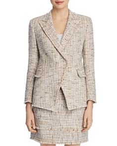 Elie Tahari - Jezebel Metallic Tweed Blazer