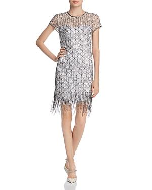1920s Flapper Dresses, 20s Costumes in Australia Elie Tahari Winter Beaded Fringe Dress AUD 657.96 AT vintagedancer.com