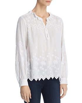 Rebecca Taylor - Embroidered Voile Top