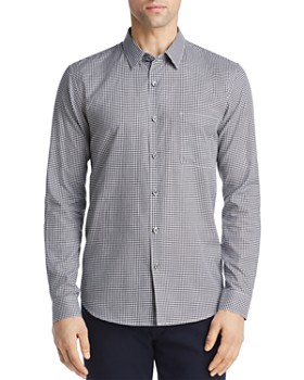 ff26d91eb72 Theory - Rammy Gingham Regular Fit Shirt
