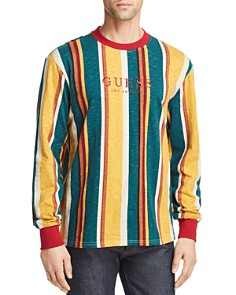 GUESS - Sayer Long-Sleeve Striped Tee