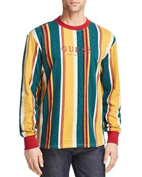 83a39bfa76df5c GUESS - Sayer Long-Sleeve Striped Tee