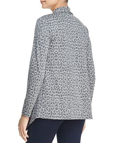 B Collection by Bobeau - Amie Leopard Print Draped Open Cardigan