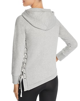 Marc New York - Asymmetric Lace-Up Hoodie