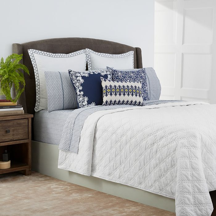 John Robshaw - Lila White Quilt Coverlets - 100% Exclusive