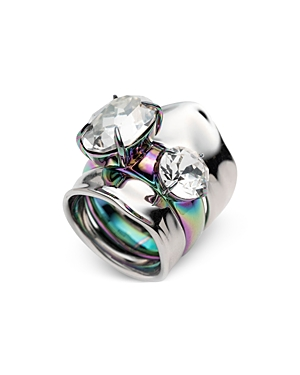 Alexis Bittar  LIQUID STACKED RINGS, SET OF 2
