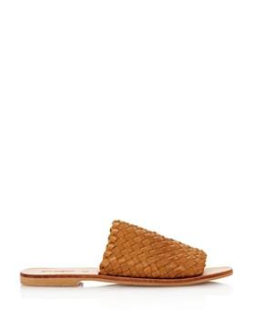 St. Agni - Women's Corfu Woven Leather Slide Sandals