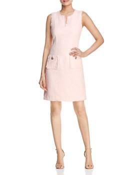 35a7c9e6c291c KARL LAGERFELD Paris - Tonal Tweed Pocket Dress ...