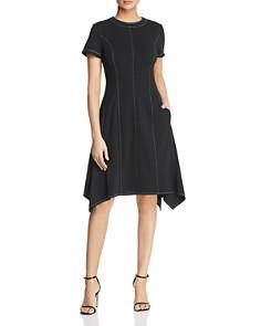 Donna Karan - Topstitched Handkerchief Hem Dress