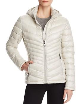 Calvin Klein - Packable Short Chevron-Quilted Down Coat