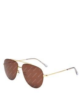 Balenciaga - Women's Aviator Sunglasses, 59mm