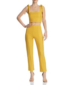 Tiger Mist - Kinsley Cropped Top & Straight-Leg Pants