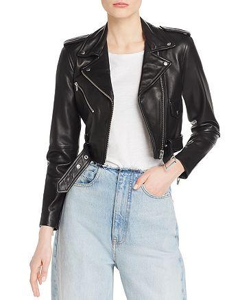 dad5bf809 Veda Baby Jane Smooth Leather Moto Jacket   Bloomingdale's