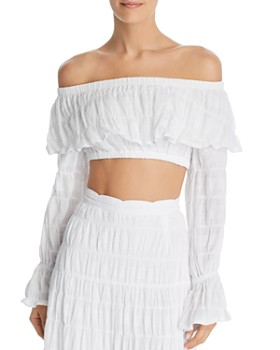 Suboo - Daydream Off-the-Shoulder Cropped Top