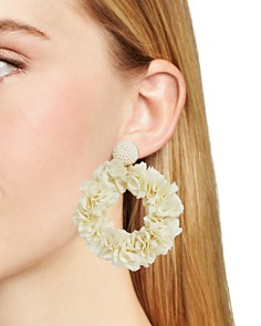 BAUBLEBAR - Camellia Flower Hoop Earrings